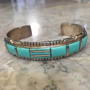 Jewelry - Native American Sterling Turquoise Bracelet